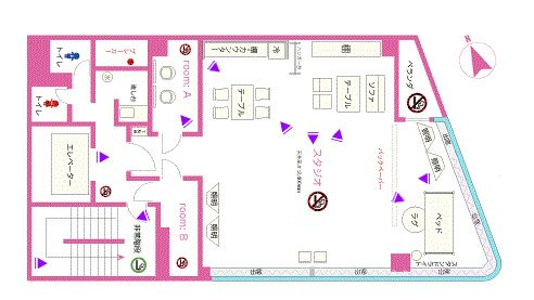 Barbie house フロアマップ