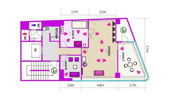 Barbie room フロアマップ