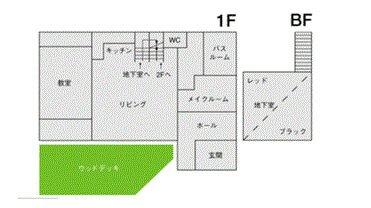 STUDIO LIP 松原 フロアマップ1F