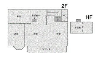 STUDIO LIP 松原 フロアマップ2F