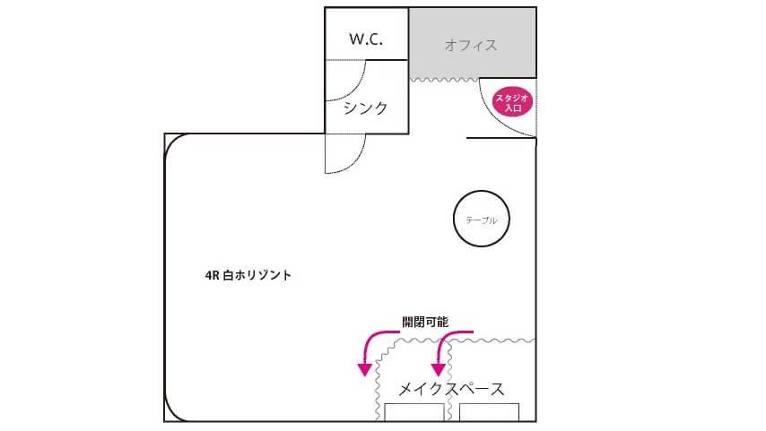 Studioレンズマン青山 フロアマップ