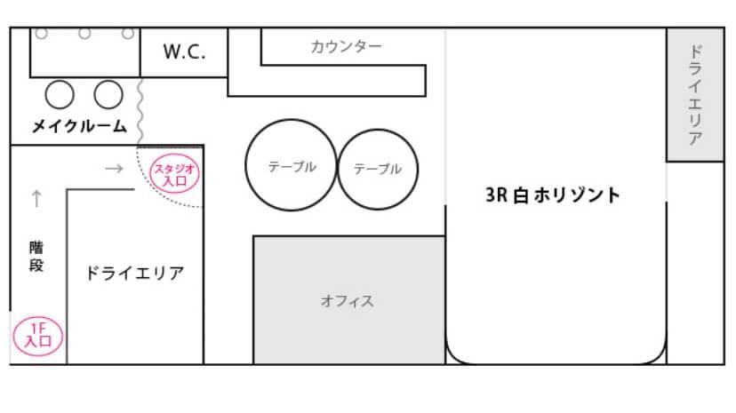 Studioレンズマン渋谷 フロアマップ