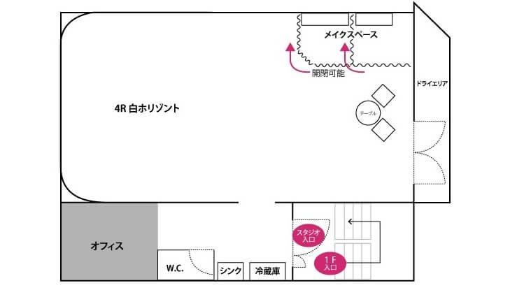 Studioレンズマン新宿 フロアマップ