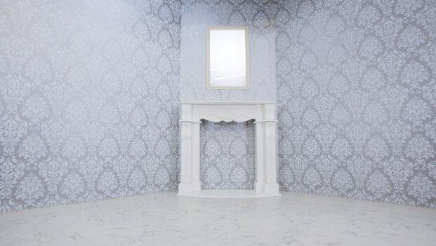 STUDIO HIDOUT 白ゴシック調の壁&大理石調の床