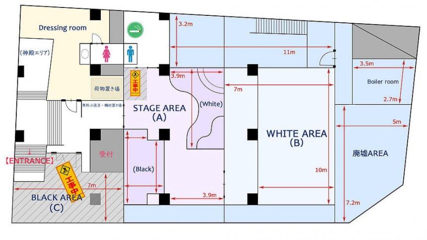TOKYO UNDER GROUND bunkyo studio フロアマップ