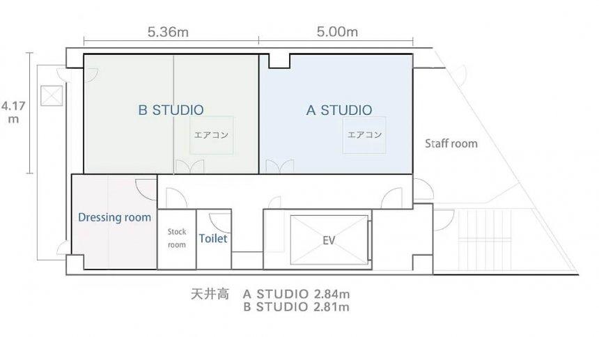 VINCENT STUDIO フロアマップ