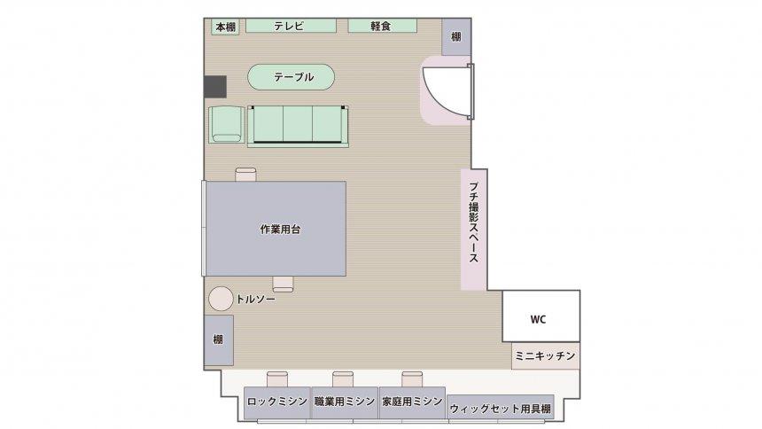 クリエイティブスペース NUUN フロアマップ