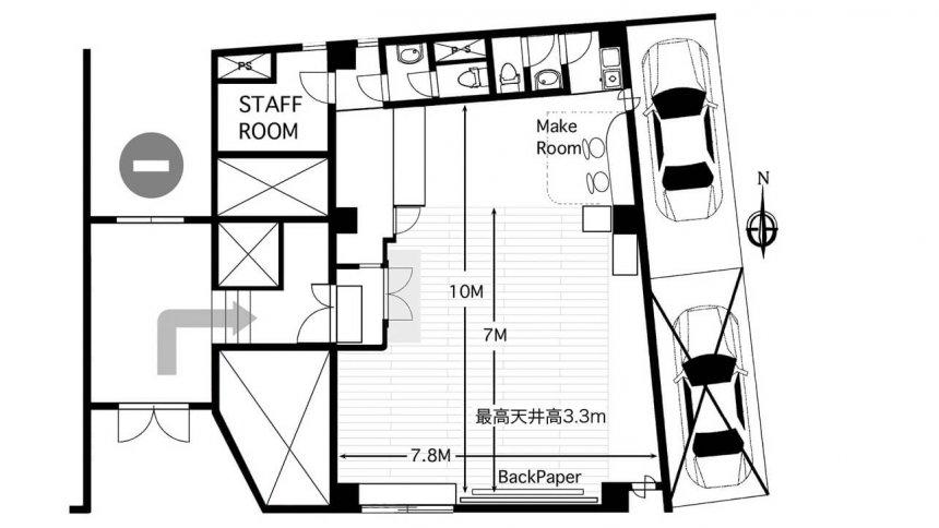 神楽坂スタジオ フロアマップ