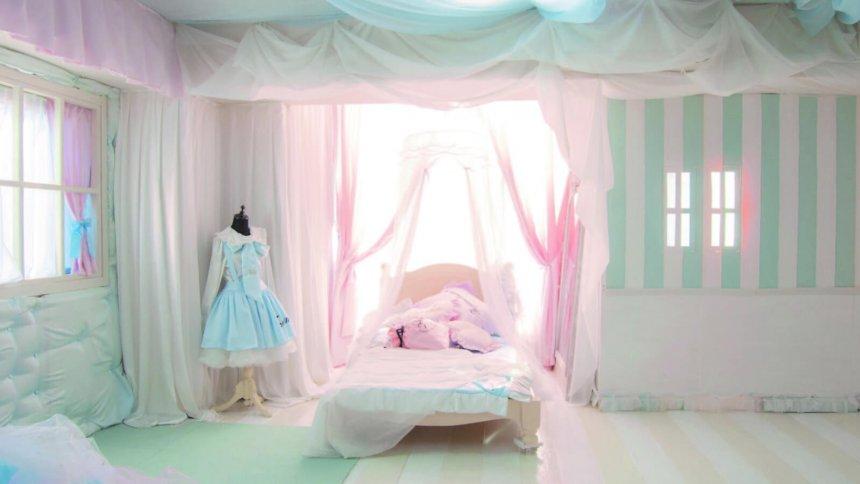 なまいきリボンスタジオ 池尻大橋 パステル調のベッド1