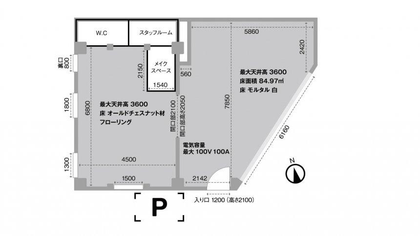 soso studio TAKABAN フロアマップ