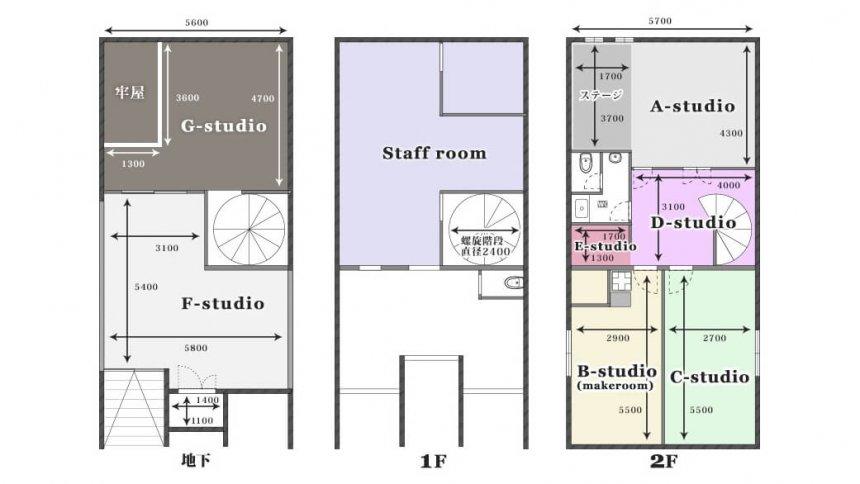 モノローグスタジオ(モノスタ) フロアマップ