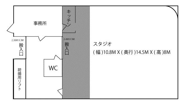 ORIONSHA+ 金沢スタジオ フロアマップ