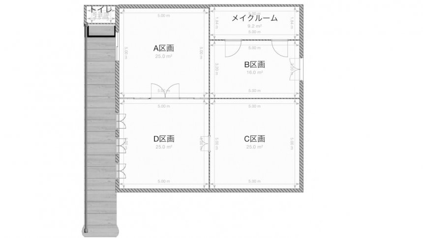 Studio Lumiere'k フロアマップ