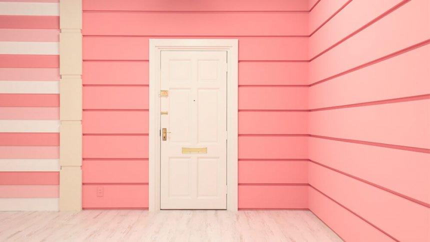 studio PINK ピンクの壁