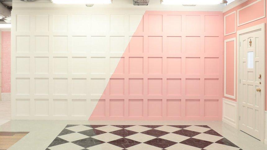 studio PINK 白&ピンクのタイル
