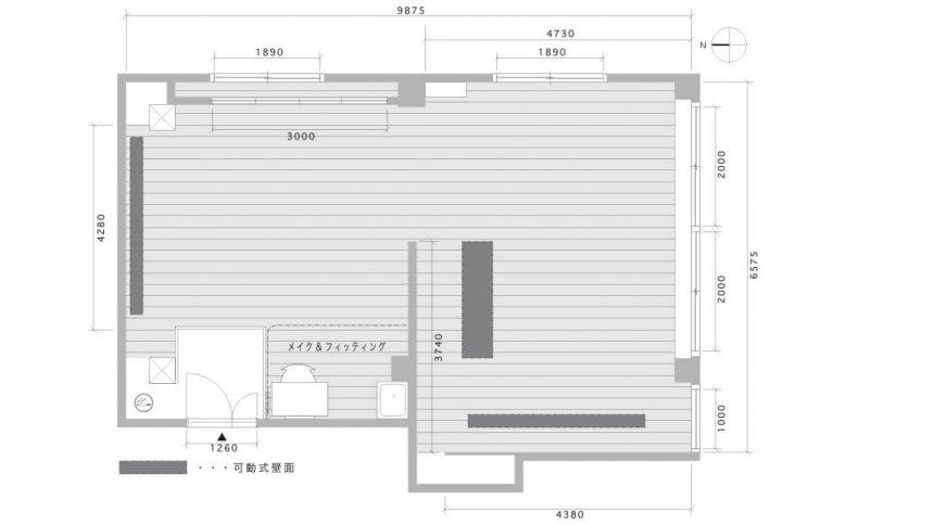 Studio Tenjin Base フロアマップ