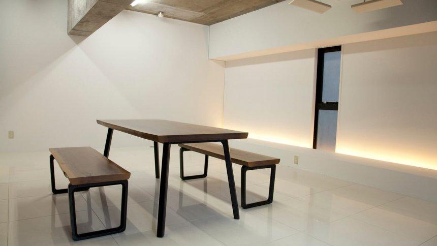 studio U+ 大理石調の床