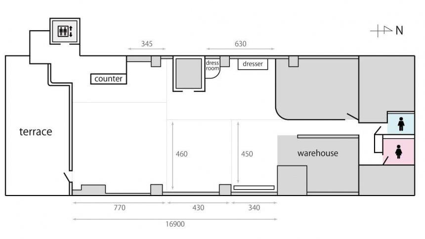 studio01 フロアマップ