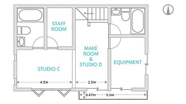WALL STUDIO フロアマップ2F