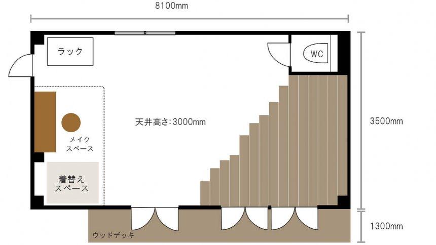 Studio Loulou101 フロアマップ