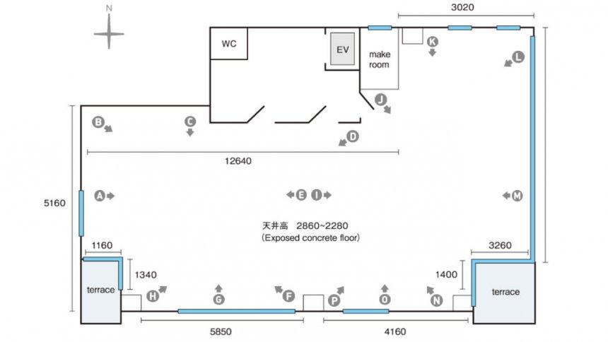 スタジオヌーン 8F フロアマップ